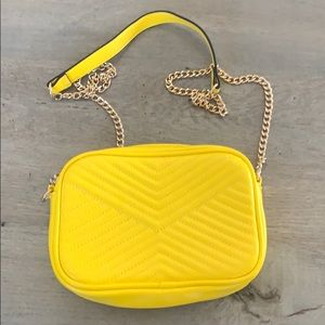 H&M bright yellow purse chain strap barely used!